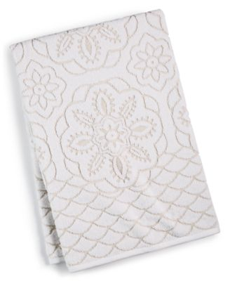 """CLOSEOUT! Rosa Floral Medallion Sculpted Cotton 30"""" x 54"""" Bath Towel, Created for Macy's"""