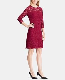 Lauren Ralph Lauren Petite Scalloped-Hem Lace Dress