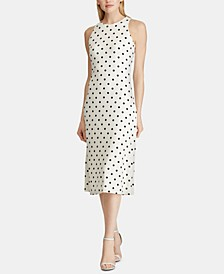 Polka-Dot-Print Sleeveless Dress