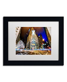 "David Ayash 'Christmas in New York' Matted Framed Art - 11"" x 14"""