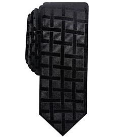 INC Men's Skinny Lattice Velvet Tie, Created for Macy's