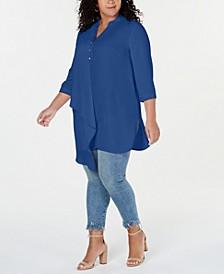 Plus Size Asymmetrical Tunic Top