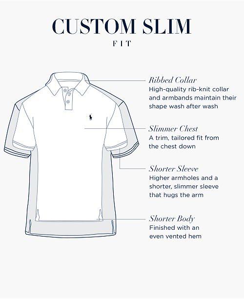31be4e8ba Polo Ralph Lauren Men s Custom Slim Fit Soft-Touch Polo   Reviews ...