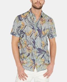 Buffalo David Bitton Men's Sybeachy Regular-Fit Tropical-Print Shirt