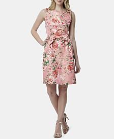 Tahari ASL Metallic Bow Fit & Flare Dress, Created for Macy's