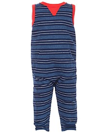 First Impressions Baby Boys Stripe Colorblocked Jumpsuit, Created for Macy's