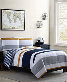 Indigo 3 Piece Full/Queen Duvet Set