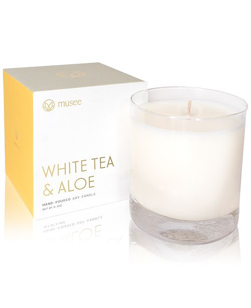 Musee White Tea & Aloe Hand-Poured Soy Candle, 8.8-oz.