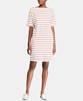 786a41f3 Lauren Ralph Lauren Stripe-Print Boatneck Cotton Jersey Dress