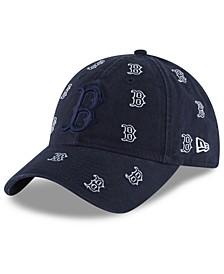 Women's Boston Red Sox Logo Scatter Adjustable 9TWENTY Cap