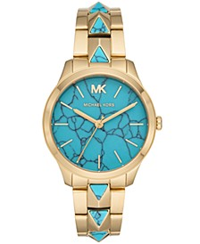 Women's Runway Mercer Gold-Tone Stainless Steel Bracelet Watch 38mm
