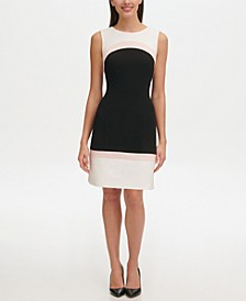 Sleeveless Colorblock Sheath Dress