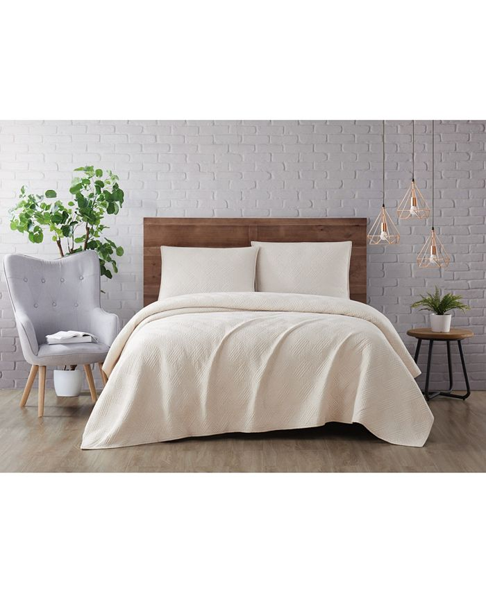 Brooklyn Loom - Washed Rayon Basketweave 3 Piece Quilt Set