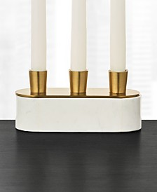 Hotel Collection Marble Candle Holder, Created For Macy's