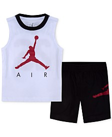 Jordan Little Boys 2-Pc. Air-Print Tank Top & Shorts Set