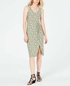 03f30b17078e Ultra Flirt Juniors' Knot-Front Midi Dress