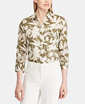ecc02ff1b89191 Lauren Ralph Lauren Floral Print Cotton Button-Down Shirt