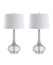 Bette Glass Teardrop LED Table Lamp - Set of 2