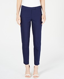 Anne Klein Faux-Pocket Mid-Rise Pants