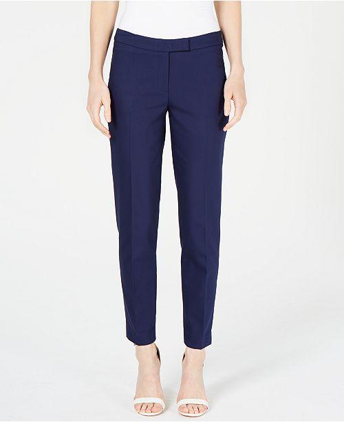 Anne Klein Faux-Pocket Mid-Rise Pants