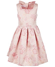 Bonnie Jean Little Girls Floral Jacquard Dress
