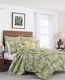 Tommy Bahama Cuba Cabana Medium Green Quilt, Full/Queen