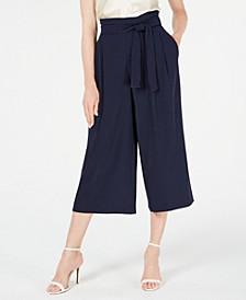 Dot-Print Cropped Pants