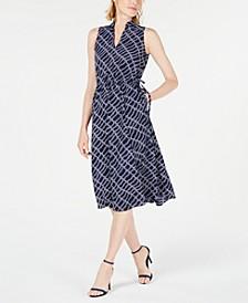 Rope-Print Midi Dress