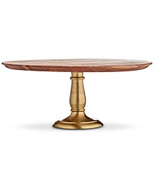 Wood & Gold-Tone Aluminum Cake Stand, Created for Macy's
