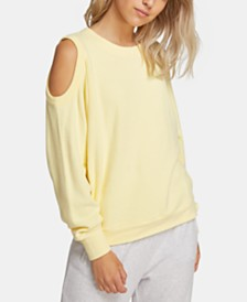 Volcom Juniors' Cold-Shoulder Fleece Sweatshirt