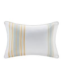 """Madison Park Newport 14"""" x 20"""" Printed Stripe 3M Scotch Gard Outdoor Oblong Pillow"""