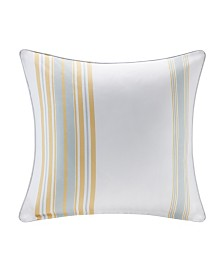 "Madison Park Newport 20"" x 20"" Printed Stripe 3M Scotch Gard Outdoor Square Pillow"