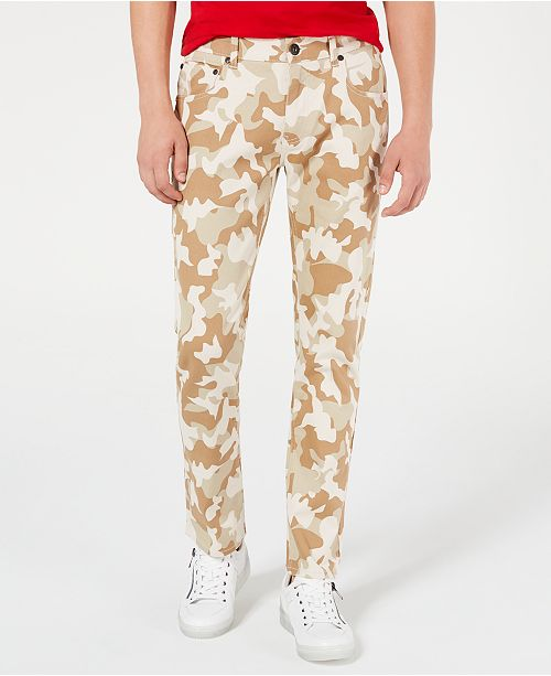 INC International Concepts INC Men's Slim-Fit Camo Jeans, Created for Macy's