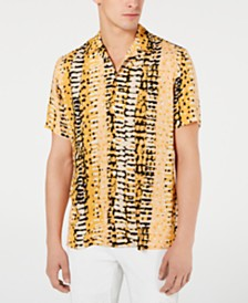 I.N.C. Men's Animal Print Shirt, Created for Macy's