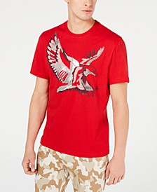 INC Men's Metallic Bird T-Shirt, Created for Macy's