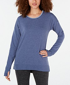 Blanket-Stitch Cross-Back Top, Created for Macy's