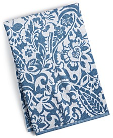 Elite Cotton Scroll Paisley Bath Towel, Created for Macy's