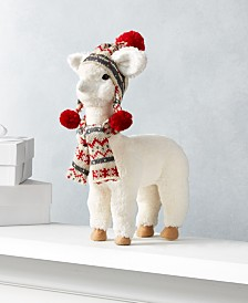 "Holiday Lane Christmas Cheer 12""H Alpaca, Created for Macy's"
