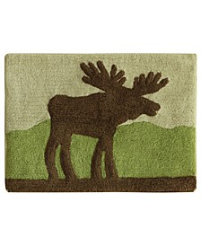 "Lodge Moose Bath Rug 22""x30"""