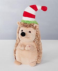 """15""""H Animated Plush Dancing Hedgehog with Moving Mouth, sings """"Feliz Navidad"""", Created for Macy's"""