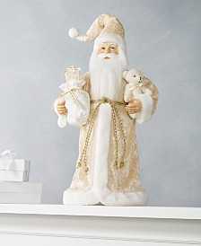 Holiday Lane Tree Topper Musical Santa with LED Lights, Created for Macy's