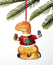 Santa's Favorites Dinosaur in Xmas Sweater Ornament, Created For Macy's