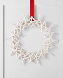 Holiday Lane Seaside Glitter Starfish Wreath, Created for Macy's