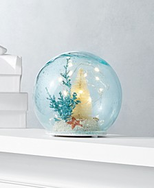 Seaside LED Glass Ball with Christmas Tree and Beach Scene, Created for Macy's