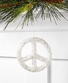 Snow Daze Glitter Peace Sign Ornament, Created for Macy's