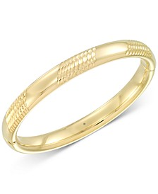 Diamond Accent Patterned Bangle Bracelet in 14k Gold Over Resin, Created for Macy's