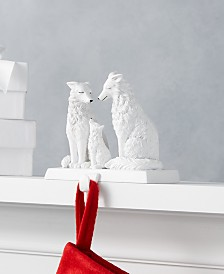 Holiday Lane Upstate Wolf Family Stocking Holder, Created for Macy's