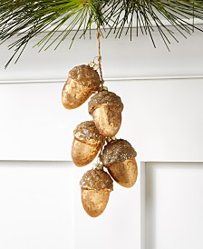 Holiday Lane Spotted Owl Gold Acorns Ornament, Created For Macy's