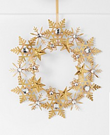 Midnight Blue  Iron Snowflake Wreath, Created for Macys