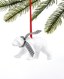 Holiday Lane Upstate Polar Bear Ornament, Created For Macy's